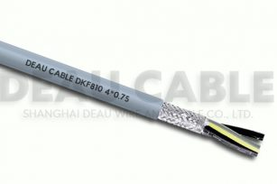 DKF810 4*0.75 高度柔性屏蔽拖链电缆