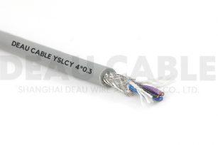YSLCY 4*0.3屏蔽耐油伺服欧标电缆