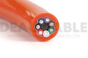 DKF820-PUR 7×1.0高柔性耐磨抗拉聚氨酯护套拖链电缆