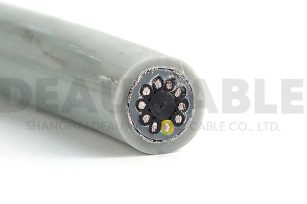 DKF850-PUR 10×0.5高柔性抗拉聚氨酯双护套屏蔽拖链电缆