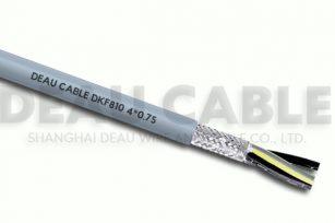 高度柔性屏蔽多芯电缆 DKF810 4*0.75