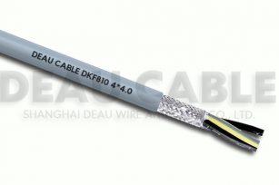 高度柔性屏蔽多芯电缆 DKF810  4*4.0