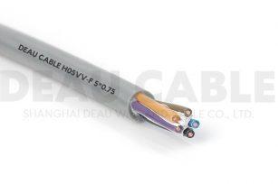 欧标多芯护套线 H05VV-F  5*0.75