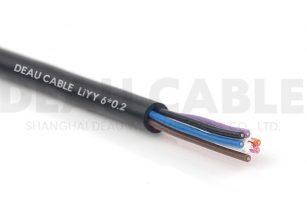 欧标柔性数据电缆 LIYY  6*0.2