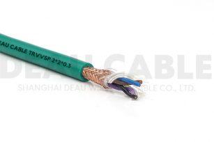 中度柔性双绞屏蔽电缆 TRVVSP 2*2*0.3