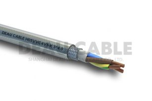 H05VVC4V5-K 3*4.0 双护套屏蔽耐油控制电缆