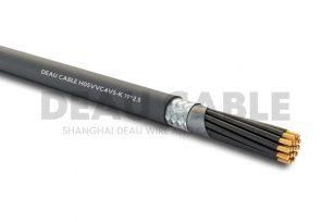H05VVC4V5-K  19*2.5 双护套屏蔽耐油控制电缆